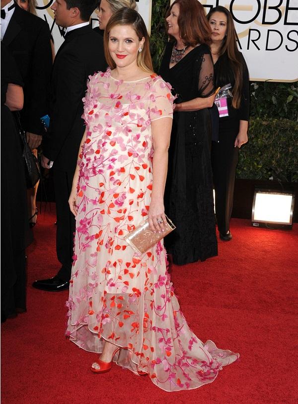 Le star di Hollywood in gravidanza: l'attrice incinta Drew Barrymore