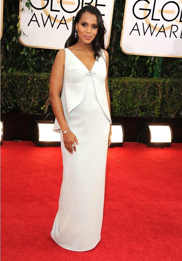Celebrità incinte: attrice incinta e politico Kerry Washington